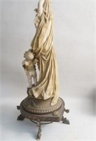 Antique Austrian Art Nouveau Nude with Cupid