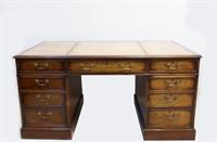 Fine Antique Leather top executive desk
