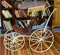 Antique handpainted & crafted Child's Buggy
