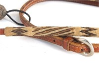 Prison Made horsehair and leather headstall