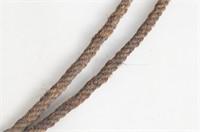 A Fine Braided Rawhide Bosal and Horse hair reins
