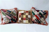 Crazy Quilt and three pillows