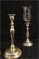 Sterling candle holders & hurricane lamps 4 pc's