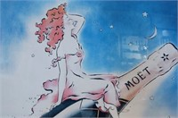 French Moet & Chandon Advertising Poster