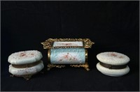 Three Wavecrest lidded boxes