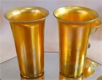 Art Nouveau  Aurene Glass Chalice, cups +