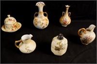 Minton Rudolstadt porcelains - vases,