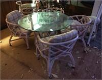 Rattan dining set 7 ps. set