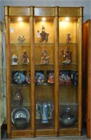 Gold China cabinet with Columns
