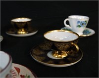 Assorted Porcelain Demitasse bone china pcs