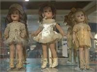 Collection of vintage dolls - skater Sonja Henie