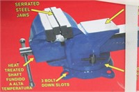 """ATE PRO USA 5"""" BENCH VISE"""