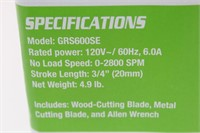 GENESIS 6.0 AMP Reciprocating Saw-Variable-Speed