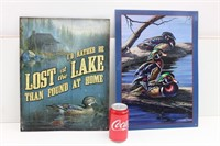 (2) Outdoor Tin Signs