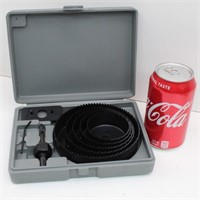 10Pc Large Hole Saw Kit in Case