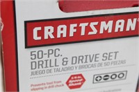 CRAFTSMAN 50-Pc DRILL & DRIVER Set in Case