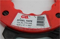 GB Steel Tape, (4) RIDGID Pipe Wrenches