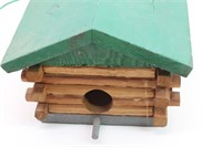 Handcrafted Log Wood Hanging Birdhouse