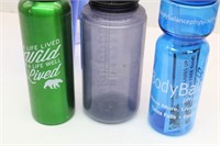 Collection of (9) Assorted Water Bottles & Cups