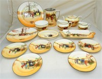 Royal Doulton Coaching Days Early Series Ware Fine Bone China Tea Set. (35 Pieces)