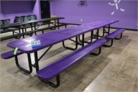 Metal Picnic Tables w/Thermoplastic Coating,