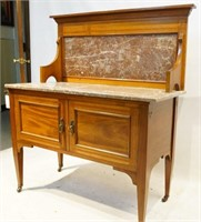 Marble top Inlaid Washstand