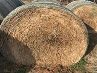 4/14 330 Round Bales Crabgrass & Wheat Hay
