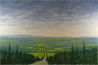 """PHILIP SYBAL """"ROAD THROUGH BEAVER VALLEY"""" PAINTING"""