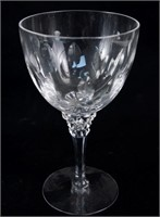 Ten Crystal embossed wine glasses