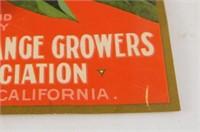 "Vintage Orange Label ""Yokohl"" Exeter California"