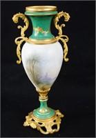 An Antique French Porcelain Portrait Urn