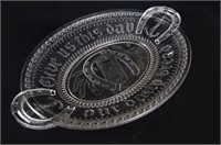 An Antique Pressed Glass Bread Plate