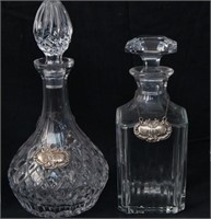 Four Cut Glass Crystal Decanters with stoppers