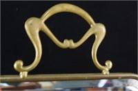 Brass framed mirrored handpainted fire screen