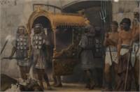 Henryk Siemiradzki Color Engraving in carved frame