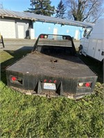 8 foot flatbed set up for a Dooley has toolboxes