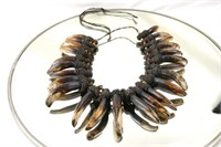 Antique African Honey Badger Claw necklace