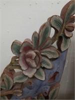 Antique floral wood carvings (pair)