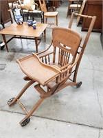 Antique victorian metamorphic high chair