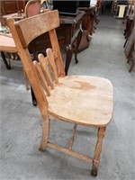 Vintage Molly Stark maple chair