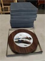 Box of 10 Asian wall plates