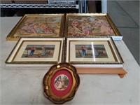 Box of needlepoint , Tapestries Wall art