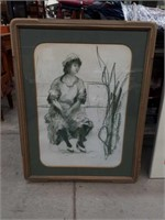 Drawing of a woman 27 by 35 in