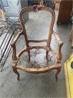 French arm chair frame  / frame value
