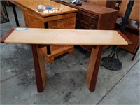 Exotic wood sofa table 52 x 14