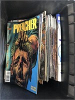 Case with comic books