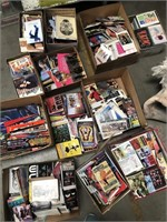 Lot of 12 boxes of misc flyers, art, postcards etc