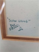 Painting by Ron Stewart entitled slow riding