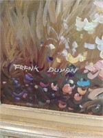 Floral gazebo painting by Frank Duvan 45 by 33 in