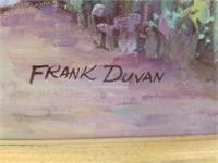 Floral gazebo painting by Frank Duvan